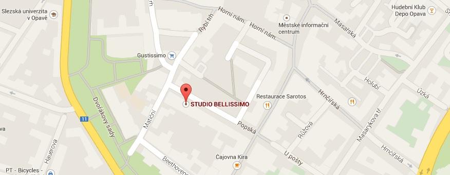 Studio Bellissimo mapa